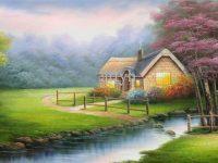 beautiful hut nature wallpaper download