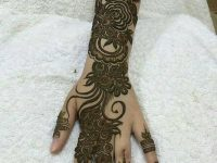 Back hand mehndi design pictures for party
