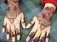 Back hand arabic mehndi design