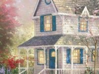 Painting house wallpaper