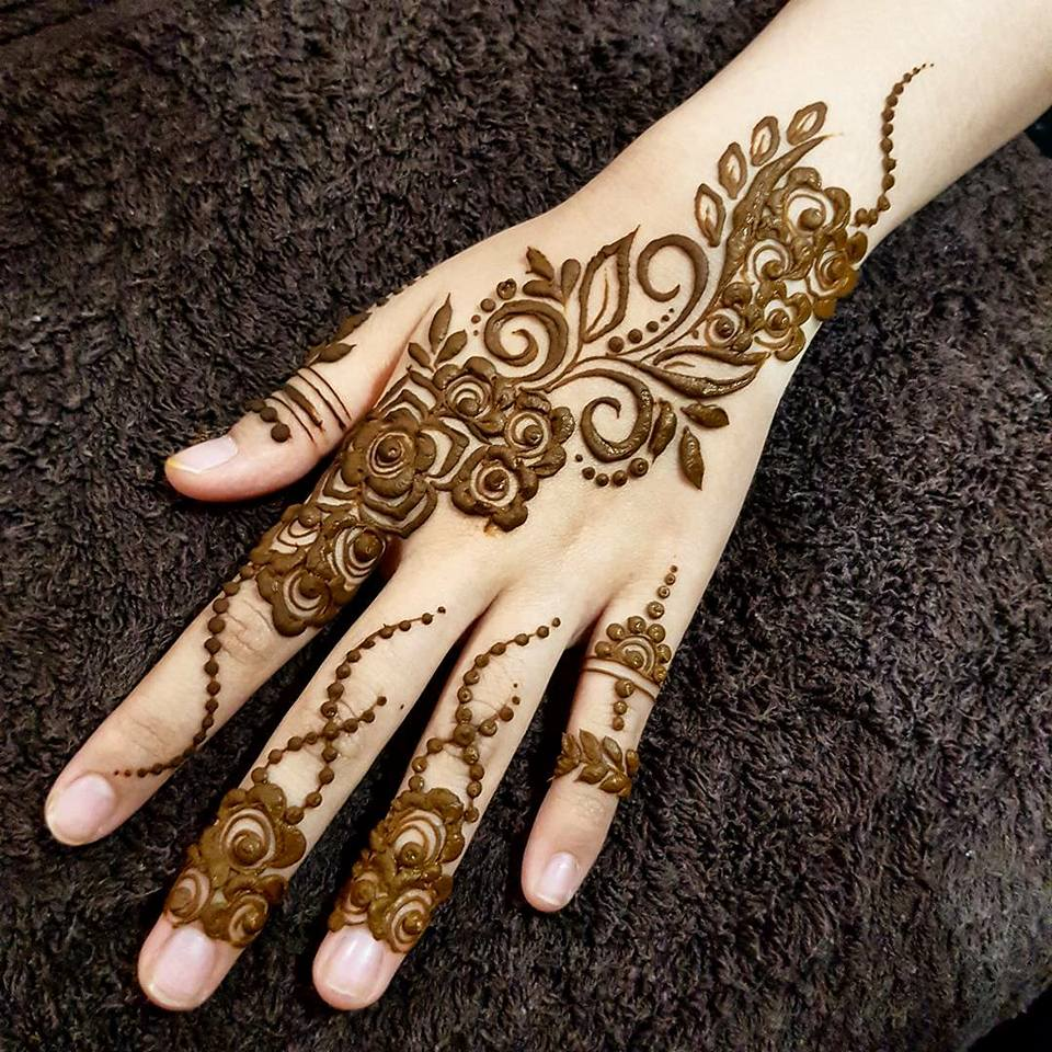 Easy Mehndi Design Step By Step Hd Wallpaper