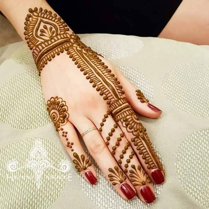 simple mehndi design for left hand - HD Wallpaper