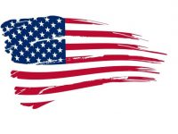 American flag clip art image
