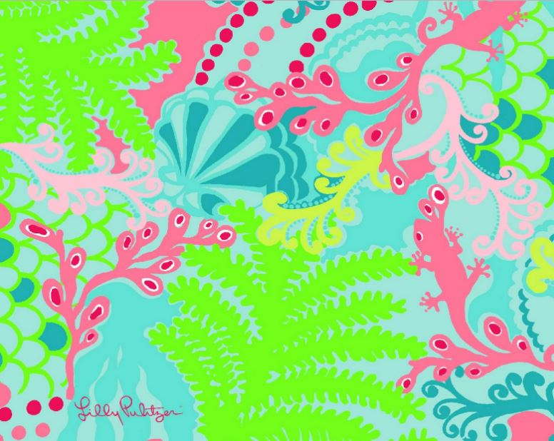Lilly Pulitzer checkin Wallpaper