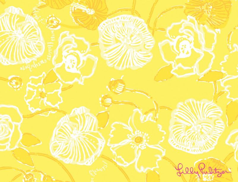 Lilly Pulitzer dahlia Wallpaper