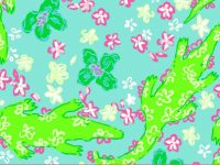 Lilly Pulitzer gator Wallpaper