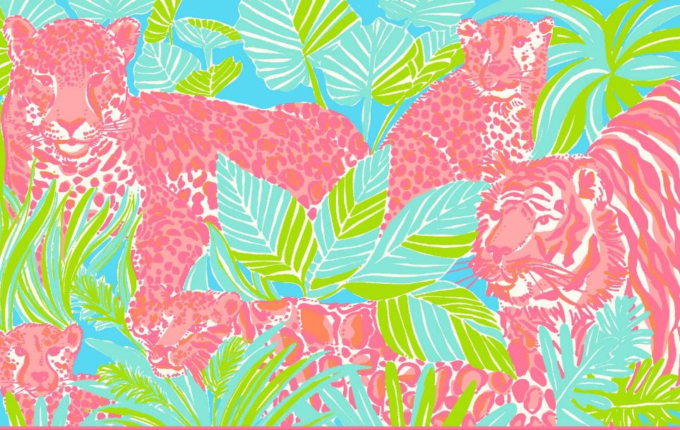 Lilly Pulitzer kitty Wallpaper