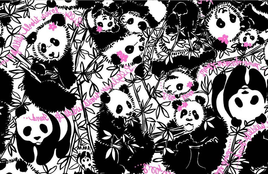 Lilly Pulitzer panda Wallpaper