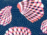 Lilly Pulitzer shells Wallpaper
