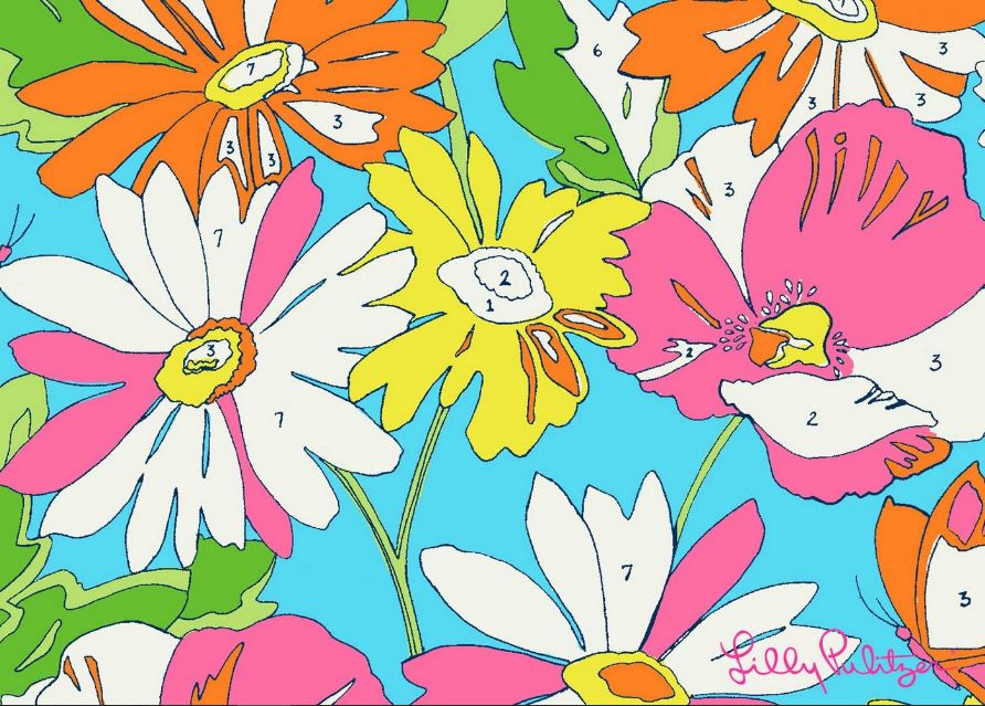 Lilly pulitzer paint wallpaper
