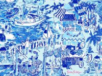 Lilly pulitzer toile wallpaper
