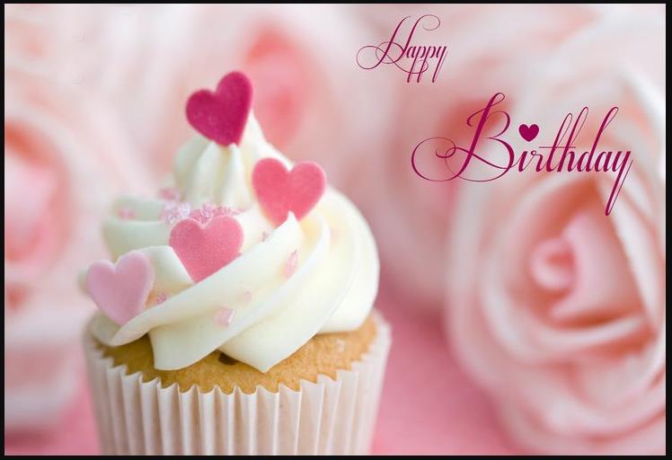 Happy Birthday Cute Cupcake Hd Wallpaper