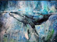 Whale Art Wallpaper