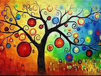 abstract painting wallpaper hd