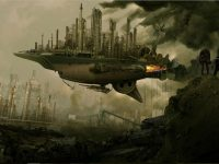 steampunk airship wallpaper hd