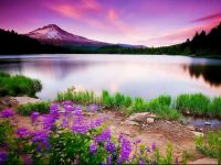 Colorful Lake Mountains Wallpaper