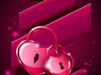 Love lock mobile wallpaper
