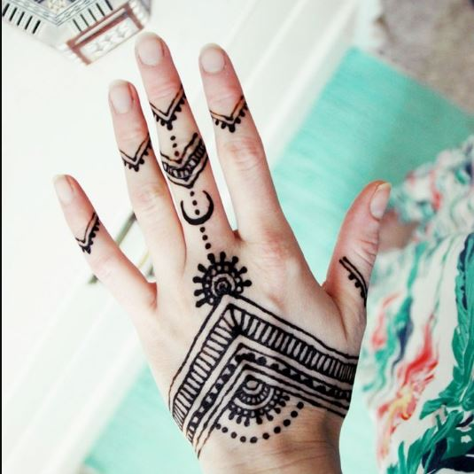 Simple Henna Tattoo Designs For Wrist: Simple Henna Tattoo Designs