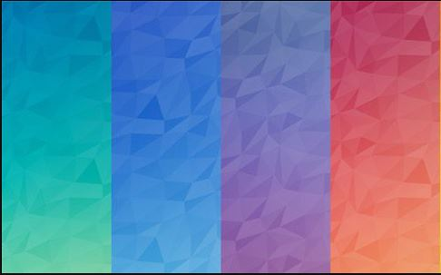polygon background vector