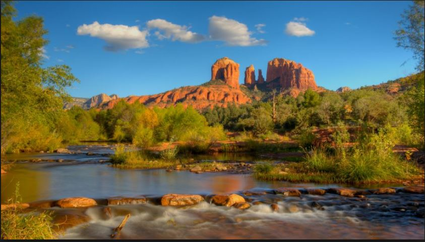 cool cathedral rock wallpaper