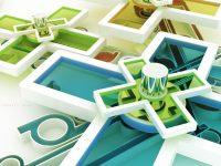 geometric shapes wallpapers cute