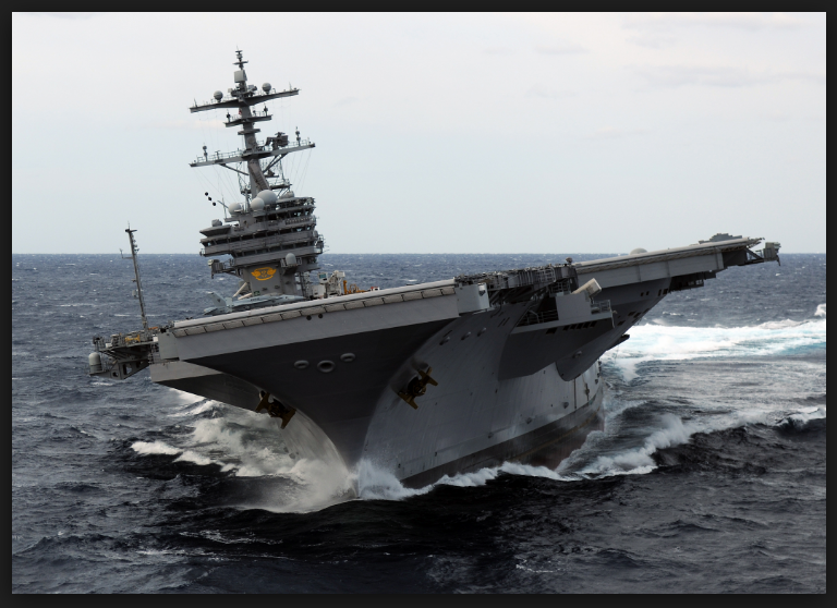picture of aircraft carrier flight desk