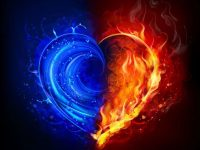 red and blue fire wallpaper for pc