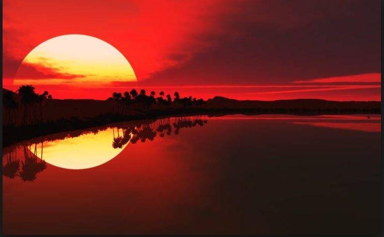 red sun wallpaper for desktop