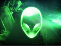 alienware wallpaper green