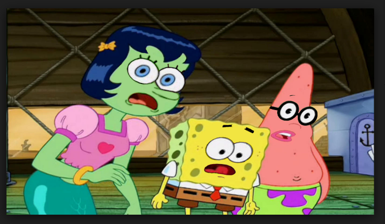 Spongebob meme face