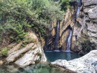 tropical waterfall hd wallpaper