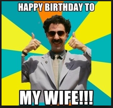 happy birthday wife funny