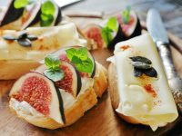 Fig cheese bread baguette