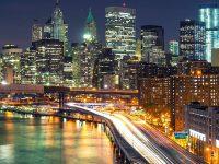 1080x2280 City Night Raod HD Wallpaper