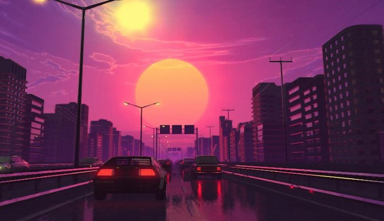 vaporwave desktop background