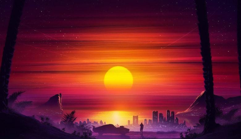 vaporwave wallpaper desktop